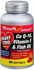 Mason Natural Heart Trio Co Q-10, Vitamin E and Fish Oil 60 Soft Gels (5 pack)