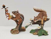 Lenox - Autum Adventure Eastern Chipmunk & Springtime Scamper Red Squirrel 1989