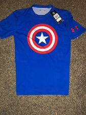 Mens Under Armour Captin American Compression T-shirt Size Large