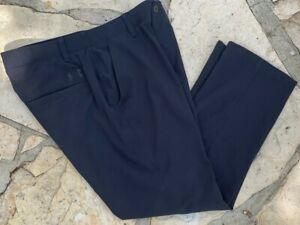 Under Armour Men's Vented Black Flat Front Pants 34x27 $85