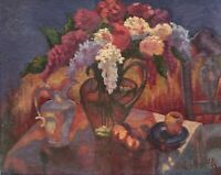 """Floral Painting """"BOUQUET"""" OIL ON CANVAS by artist """"LouAnn Mayfield"""" 1999"""