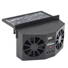 Great Black Solar Dual Fan Car Front/Rear Window Air Vent Cool Cooler Fan Well