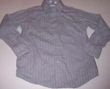 CALVIN KLEIN~Gray Long-sleeve Button-down Shirt~DESIGN~BOYS SIZE 8~SLIM FIT