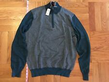 NEW Men's JOS A BANK Light-Weight Cotton Cashmere blend FALL Sweater Green