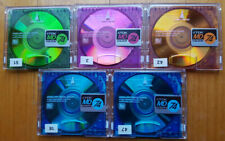 5x TDK MD 74 Colour 74 Minutes Recordable MiniDisc Mini Disc