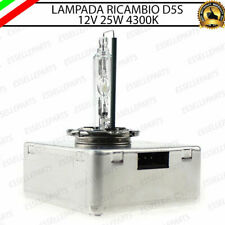 1 LAMPADA XENON D5S 25W RICAMBIO XENON DI SERIE 4300K BIANCO GHIACCIO