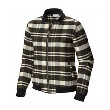 NEW Columbia Women's Alpine Plaid Flannel Bomber Zip Up Jacket Size Medium