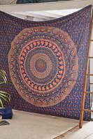 Hippie indischer Elefant Tapisserie Mandala Strand Werfen Wandbehang Tagesdecken