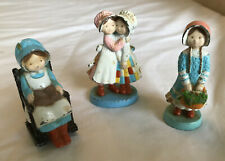 Set of Three (3) Holly Hobbie Limited Edition Figurines circa early 1980's