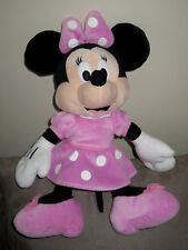 Doudou Peluche Souris Minnie en robe rose à pois blancs Nicotoy Disney 37 cm