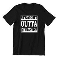 Straight Outta  Funny T Shirt Quarantine Lockdown 2021 Corona Pandemic