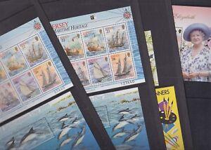 Jersey 2000 Mint MNH Minisheets Maritime Heritage Dolphins Year Dragon Elizabeth