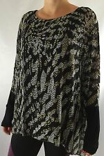 Lane Bryant Women's Bat Wing Long Sleeve Black Print New with Tags Size 22/24