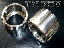 YAMAHA TX 750  V2A  Auspuffkrümmer Mutter Überwurfmutter  Nut, Ring  2 Stück