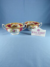 Royal Albert Lady Hamilton Pattern Twin Handle Soup Coupes / Bowls Quantity 2