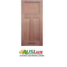 Edwardian 3 panel flat shaker solid timber internal external house entry door