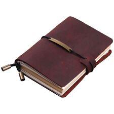 Cuaderno del viajero hecho a mano, Cuaderno de diario de viaje de cuero par N5Q4