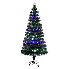 5FT Pre-Lit Fiber Optic Artificial Christmas Tree Multicolor LED Lights w/Stand