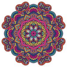 Multi Colour Mandala Design Sticker Car,Van, Fridge, Laptop, Wall Art Decal