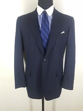 Brooks Bros. Vintage Made In Usa Blue Suit 2 Btn Center Vent 100% Wool 45 Long