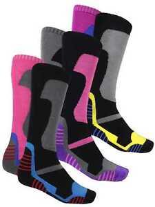 Multi Pack Winter Soft Thermal Padded Long Ski Socks Hiking Walking Cycling New