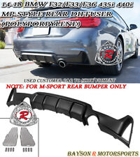 MP-Style Rear Bumper Diffuser (PP) Fits 14-18 BMW F32 F33 F36 4-Series 435i 440i