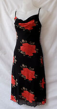 Cocktail Dress Size 8-10 Stretch Mesh Black Red Evening Party Dinner Occasion