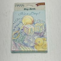 Birth Baby Announcements Cards Its A Boy Card Vintage 10 Pack Envelopes & Cards