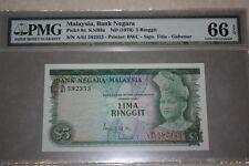 (PL) RM 5 A/61 592353 PMG 66 EPQ ISMAIL ALI 2ND SERIES (1972-1976) GEM UNC- RARE