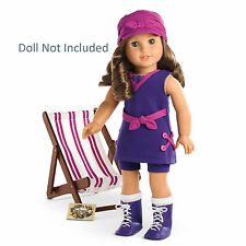 "American Girl REBECCA SEASHORE SET for 18"" Dolls Swimsuit Historical Hat NEW"