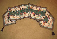 Leaves of Fall ~ Autumn Leaves/Pine Cones/Acorns Tapestry Table Runner