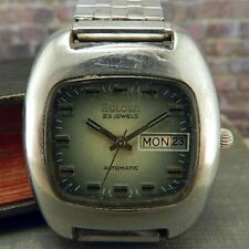 Vintage 1970's Bulova N3 23Jewel Automatic Square Faced Watch