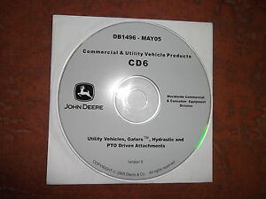 JOHN DEERE GATOR UTILITY VEHICLES TECHNICAL SERVICE SHOP REPAIR MANUAL CD