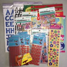 Lot of Assorted Stickers Scrapbooking Kids Crafts Letters Animals Flowers & More
