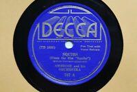 """Ambrose and Orchestra Squibs  78 RPM RECORD 10"""" DECCA 767"""