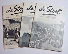 De Stoot-WWII Magazine-Stoottroepen-Three Different-1946/1948-Netherlands-Dutch