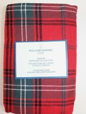 NWT $99 WILLIAMS SONOMA HOME Classic RED Tartan Linen Blend STANDARD Sham