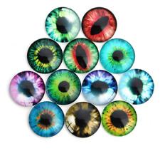 DIY 10/20pcs  eye Pattern Round Glass Cabochons gem inlay Jewelry Accessories