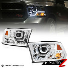 For 09-18 Dodge Ram 1500 2500 3500 Halo Angel Eye LED Strip Projector Headlight