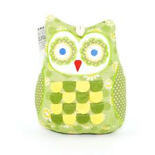 Cute Green Owl Weighted Door Stopper Fabric Doorstop Heavy Home Decor Gift