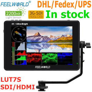 FEELWORLD LUT7S 7 inch 2200nits 3D LUT Touch Screen Field Monitor 3G-SDI 4K HDMI