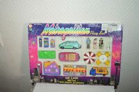 COFFRET METROPOLITAN PLAY SET  DIE CAST NEUF VOITURE MAGASIN DECOR  TRAIN