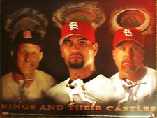 """ST LOUIS CARDINALS KINGS AND THEIR CASTLES POSTER  18"""" X 24"""""""