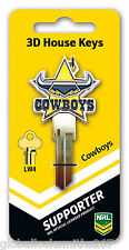 NRL North Queensland Cowboys 3D House Key LW4/C4 Key Blank