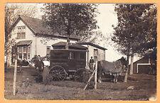 Real Photo Postcard RPPC - Salesman and Wife  -Rawleigh  Horsedrawn Remedy Wagon