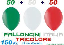 PALLONCINI ITALIA TRICOLORE 150 Pz. 20 cm. Diam FESTA DECORAZIONE PALCO ELEZIONI