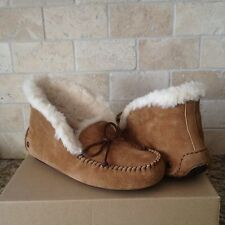 UGG Alena Slippers Moccasins Chestnut Suede Womens US 9 New 1004806