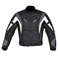Men's Motorcycle Motorbike Jacket Waterproof Cordura CE Armoured Grey