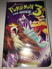 Pokemon 3 The Movie: Spell of the Unown (2001, Warner Home Video VHS) Clamshell