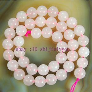 """Natural 4mm 6mm 8mm 10mm 12mm 14mm Pink Rose Quartz Gem Round Loose Beads 15"""""""
